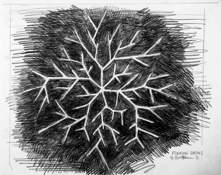 A drawing by Robert Smithson